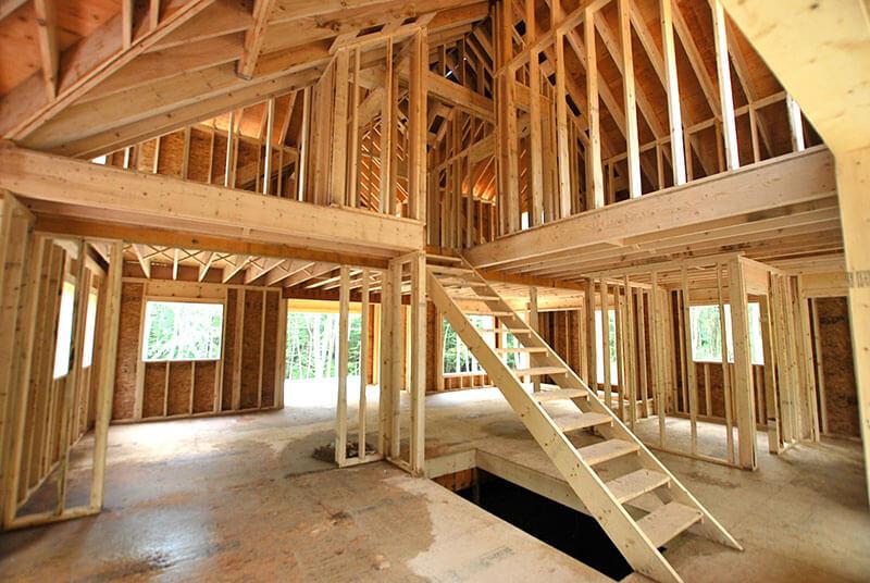 Foto com esquema de cobertura de casas feitas em Wood Frame.