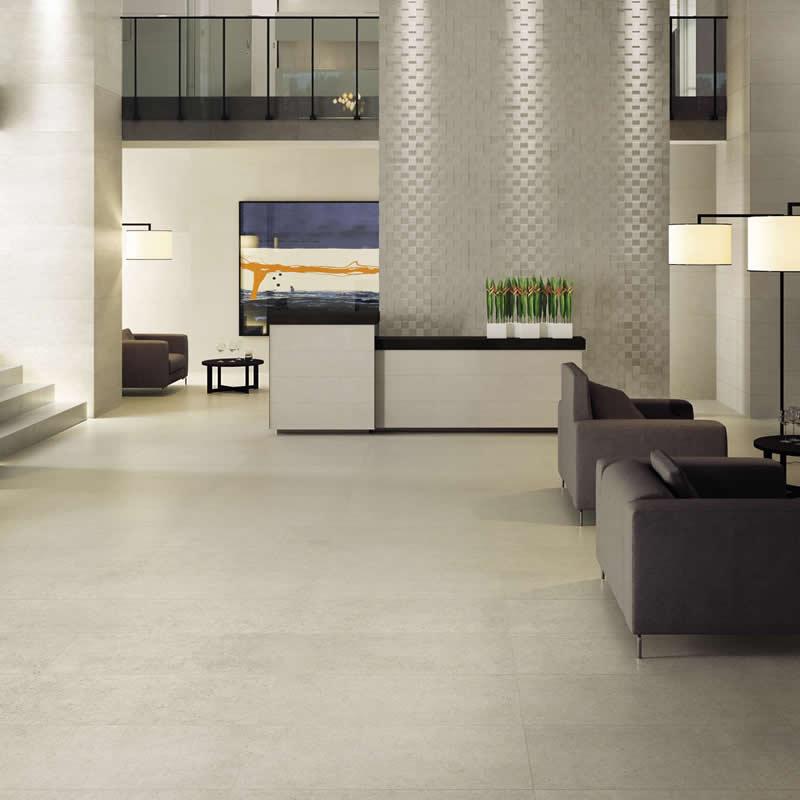 4 - Porcelanato Retificado: Sala ampla e moderna onde se optou pelo uso do piso de porcelanato