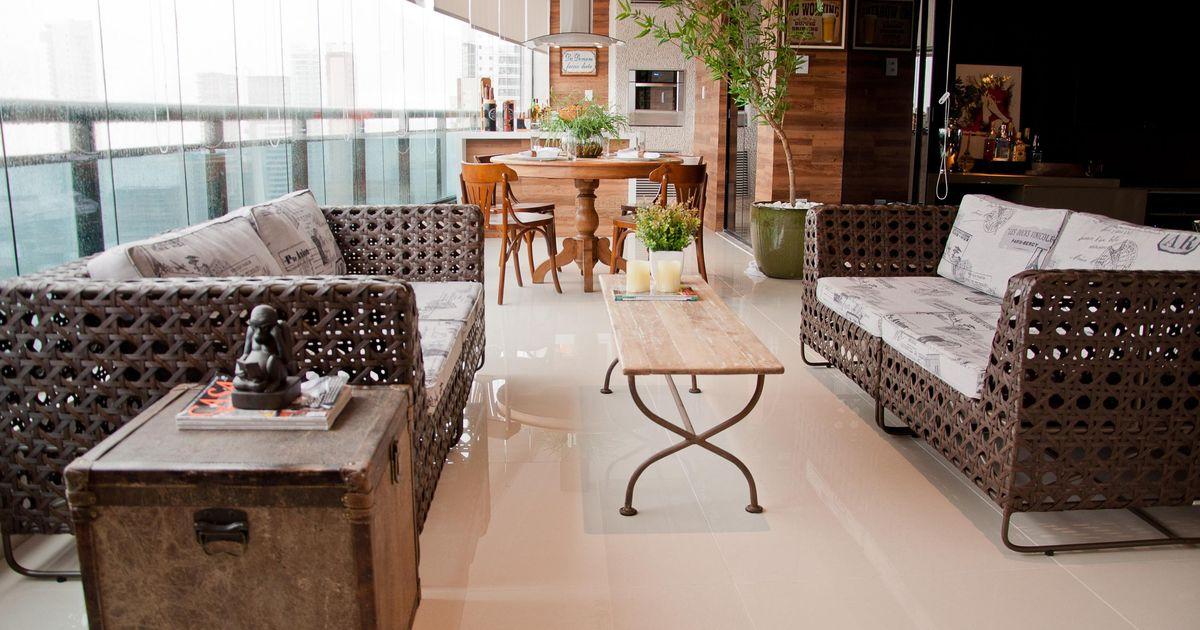 varanda gourmet decorada com bambu mossô