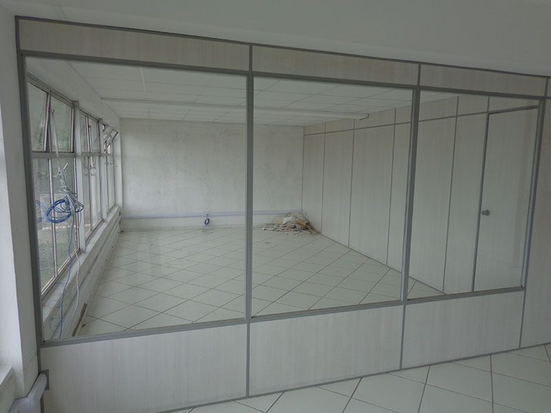 Divisória de PVC com vista panorâmica