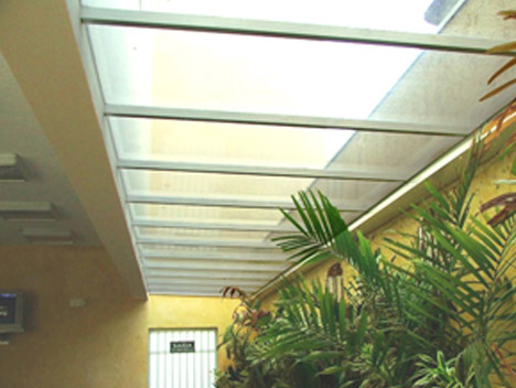 Cobertura de vidro para jardim de inverno interno