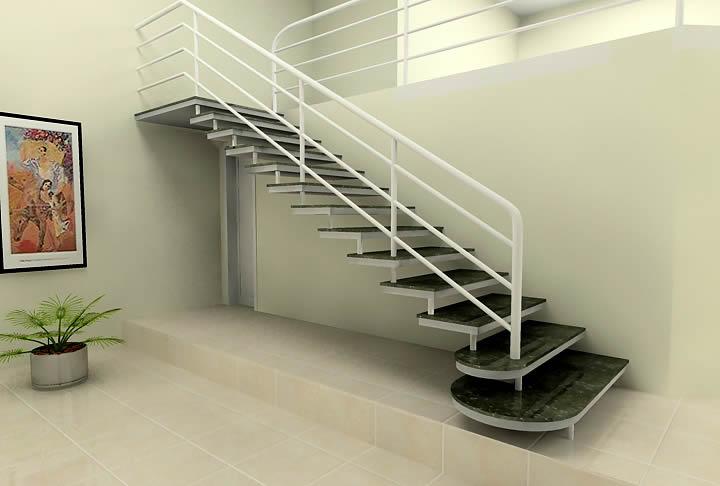 Escada reta sem patamar