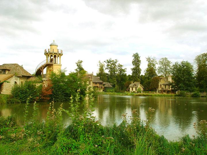 Jardim inglês do Palácio de Versalhes na França