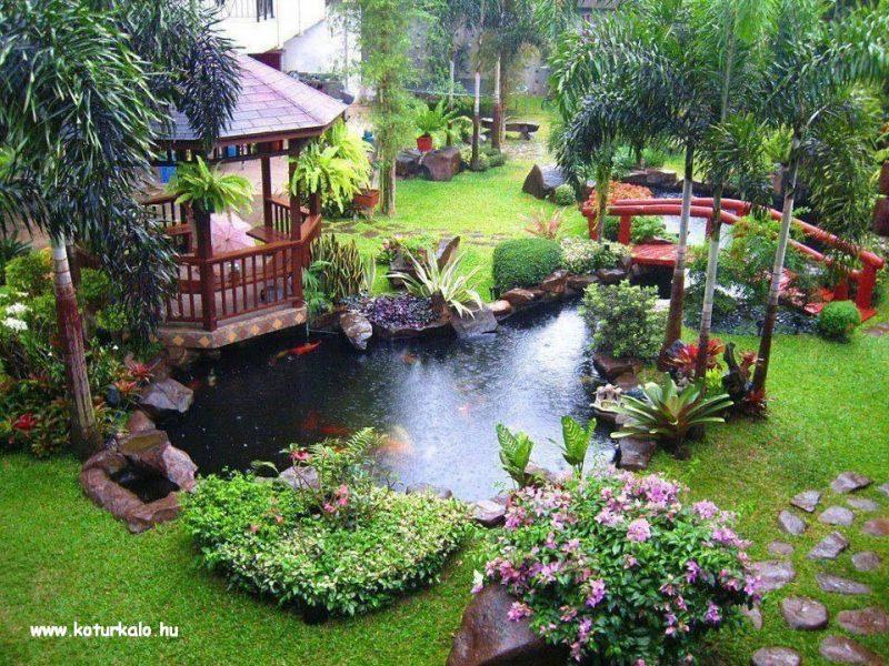 Jardim japonês em miniatura