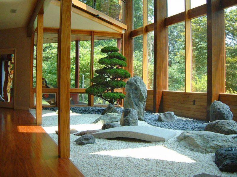 Pequeno jardim japonês