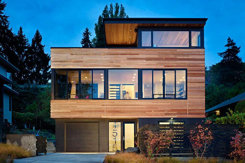 casa de madeira sem telhado