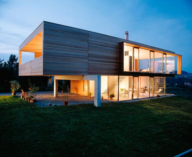 casa moderna telhado invisível