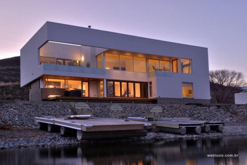 Residência Canadense com telhado plano