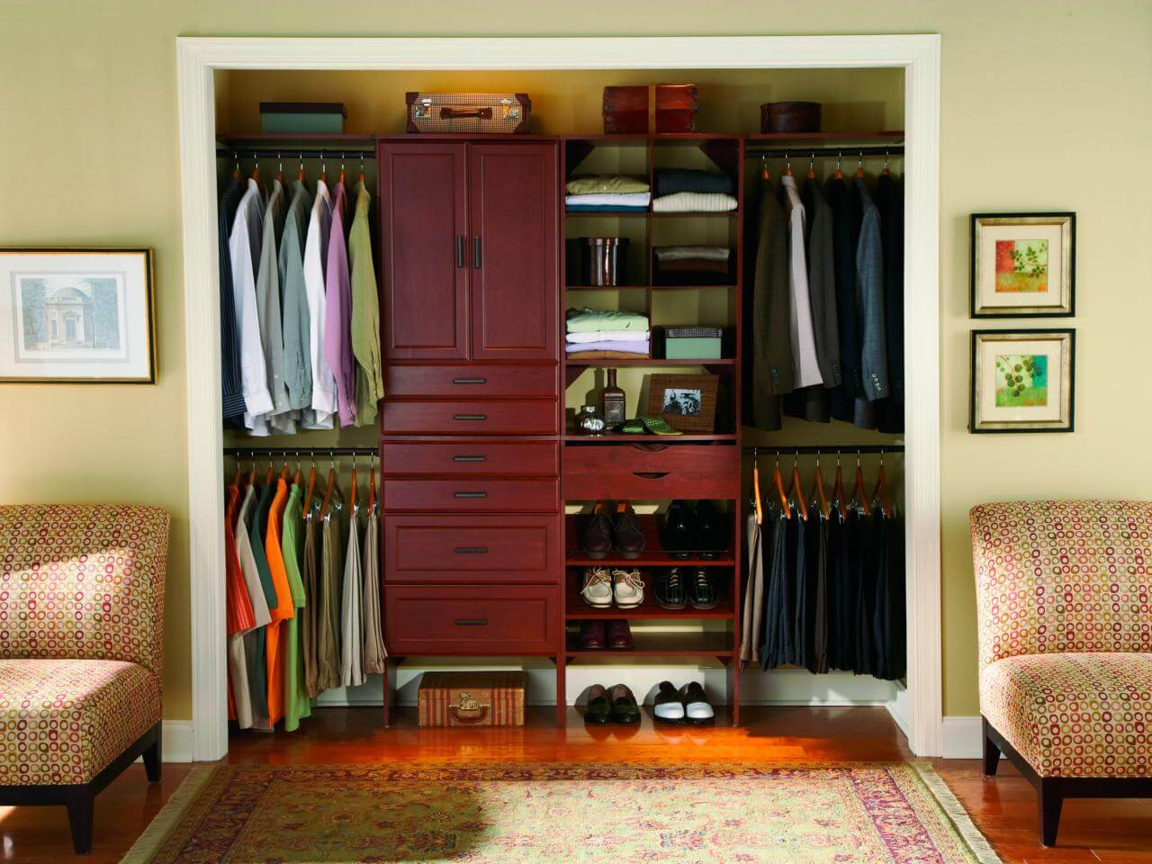 Closet rústico pequeno