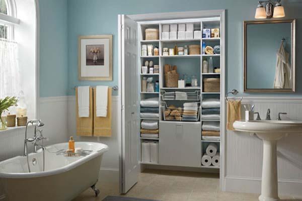 Closet para guardar toalhas e materiais para banho, conhecido como linen closet