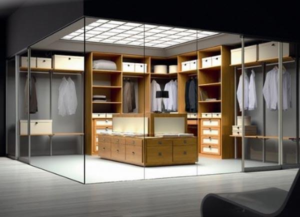 Modelos de Closet: Closet com paredes de vidro