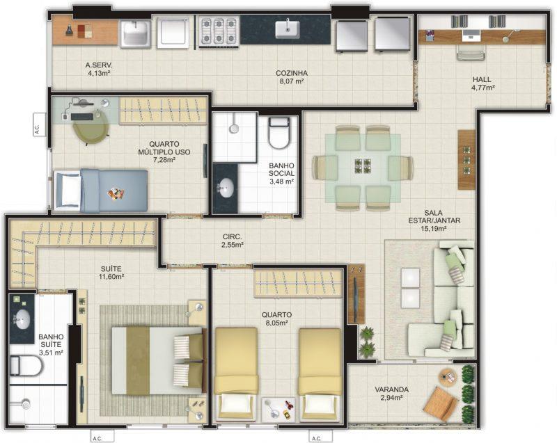 32 ideias de casas modernas fachadas projetos e fotos for Fachadas de casas de tres plantas modernas