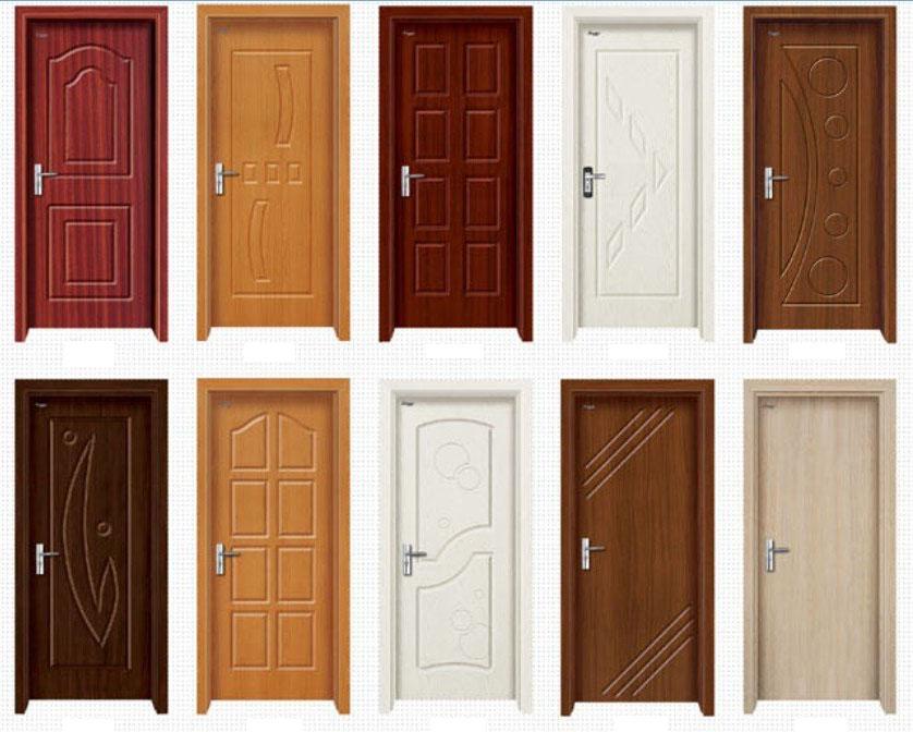 Diferentes de portas de madeira simples