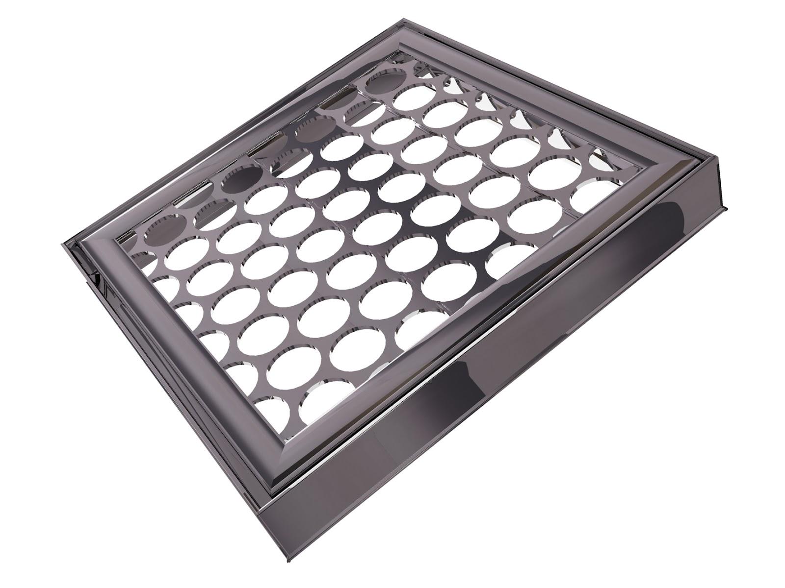 Grade protetora extra para ser acoplada a um ralo,aumentando seu poder de filtragem de resíduos