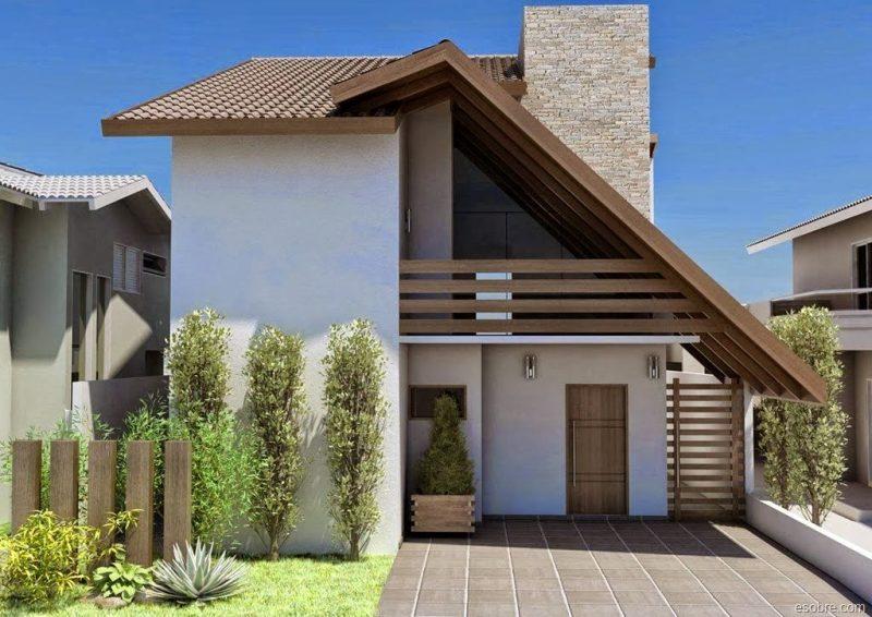 belo projeto residencial de casa com telhado uma água ou telhado skillon