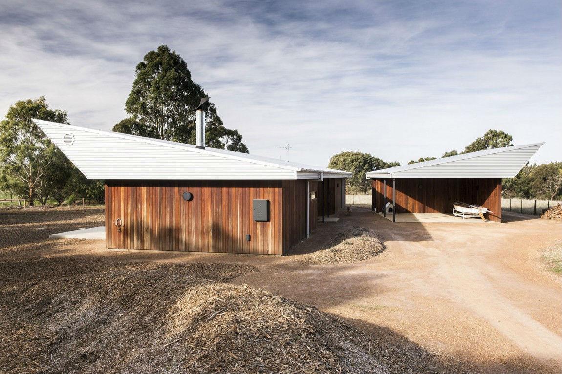 projeto contemporâneo de telhado skillon reinventado