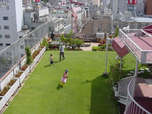 Terraço jardim em edifício residencial