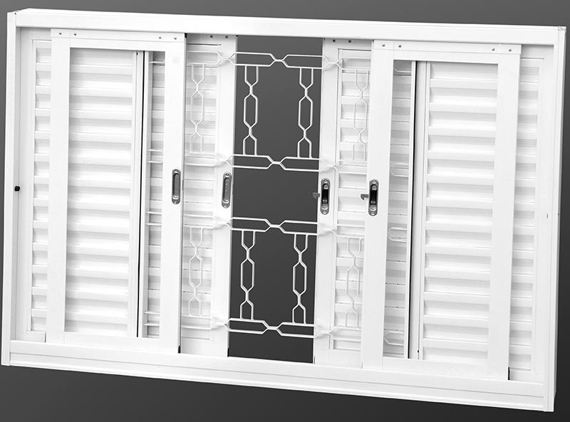 Grades em janelas venezianas
