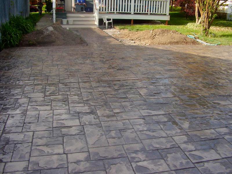 Concreto estampado piso formas e moldes aqui for Cemento estampado fotos