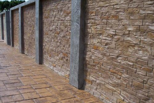 Muros de concreto estampado