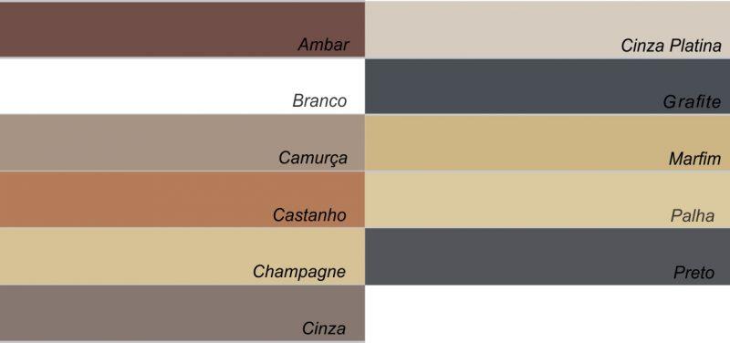 Tabela de cores de Rejunte Epóxi no Mercado