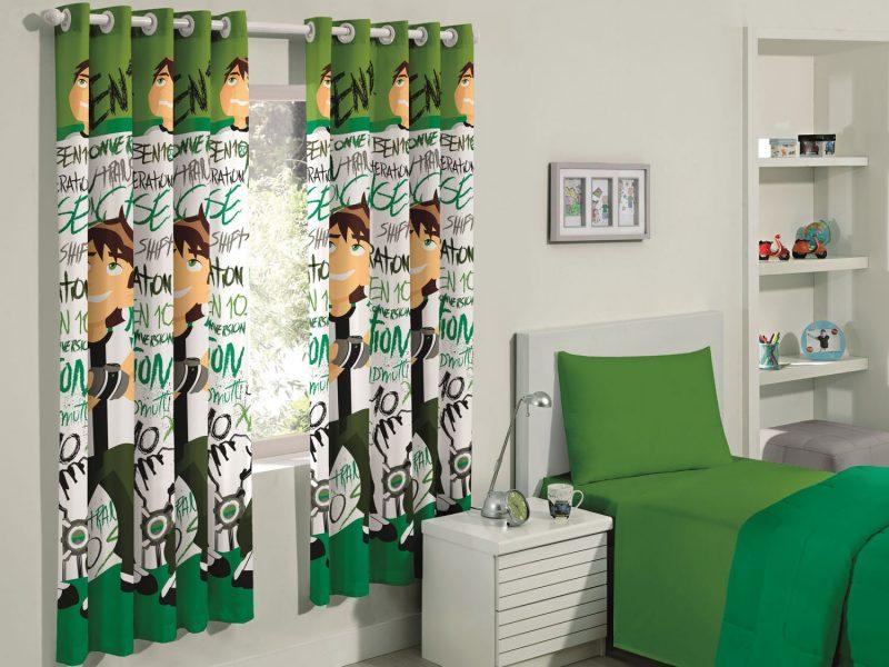 Cortina do Ben 10 para decoração de quarto de menino