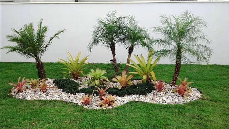 Cascalhos decoração do jardim