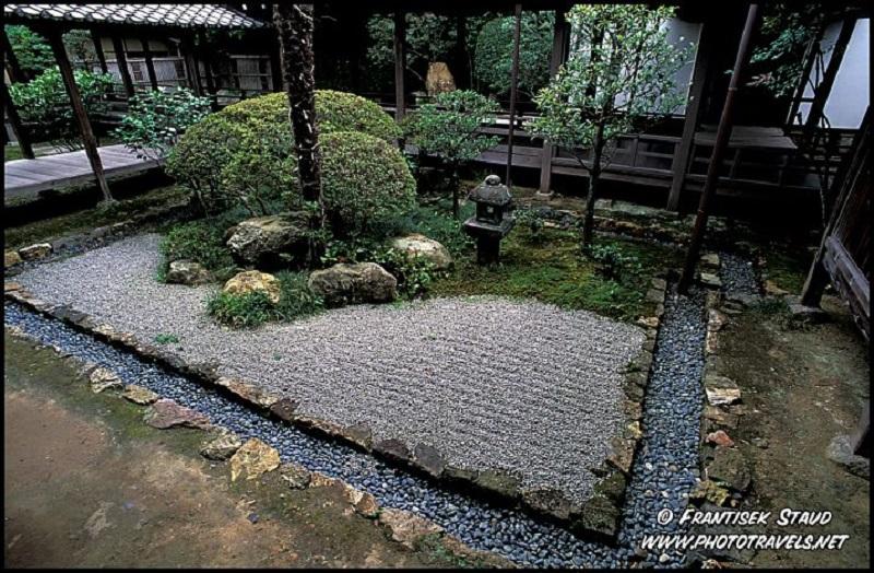 Jardim japonês de pedras de Kyoto