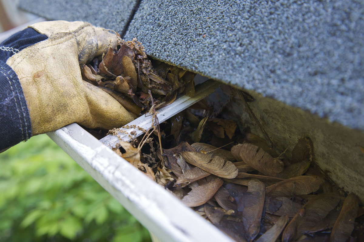 A limpeza das calhas é um processo fundamental para evitar que as mesmas entupam e transbordem em dias de chuva