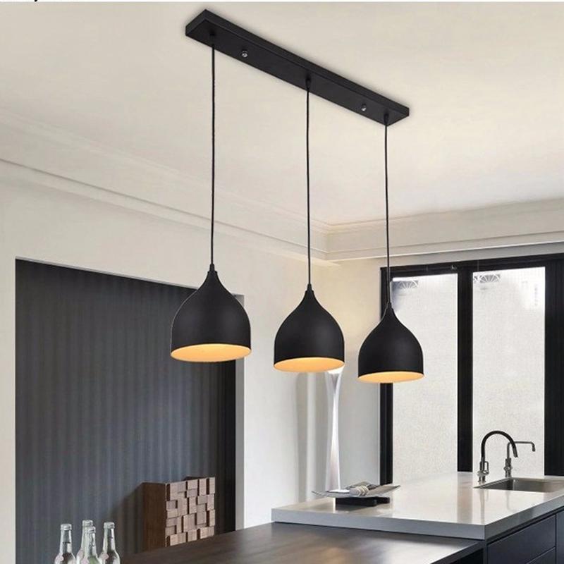 Modelo de luminária com luzes pingentes para mesa de jantar ou bancada de cozinha americana