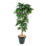 Manguier artificial - mesmo folhagens incomuns no Brasil podem ser usadas na decoração com plantas artificiais