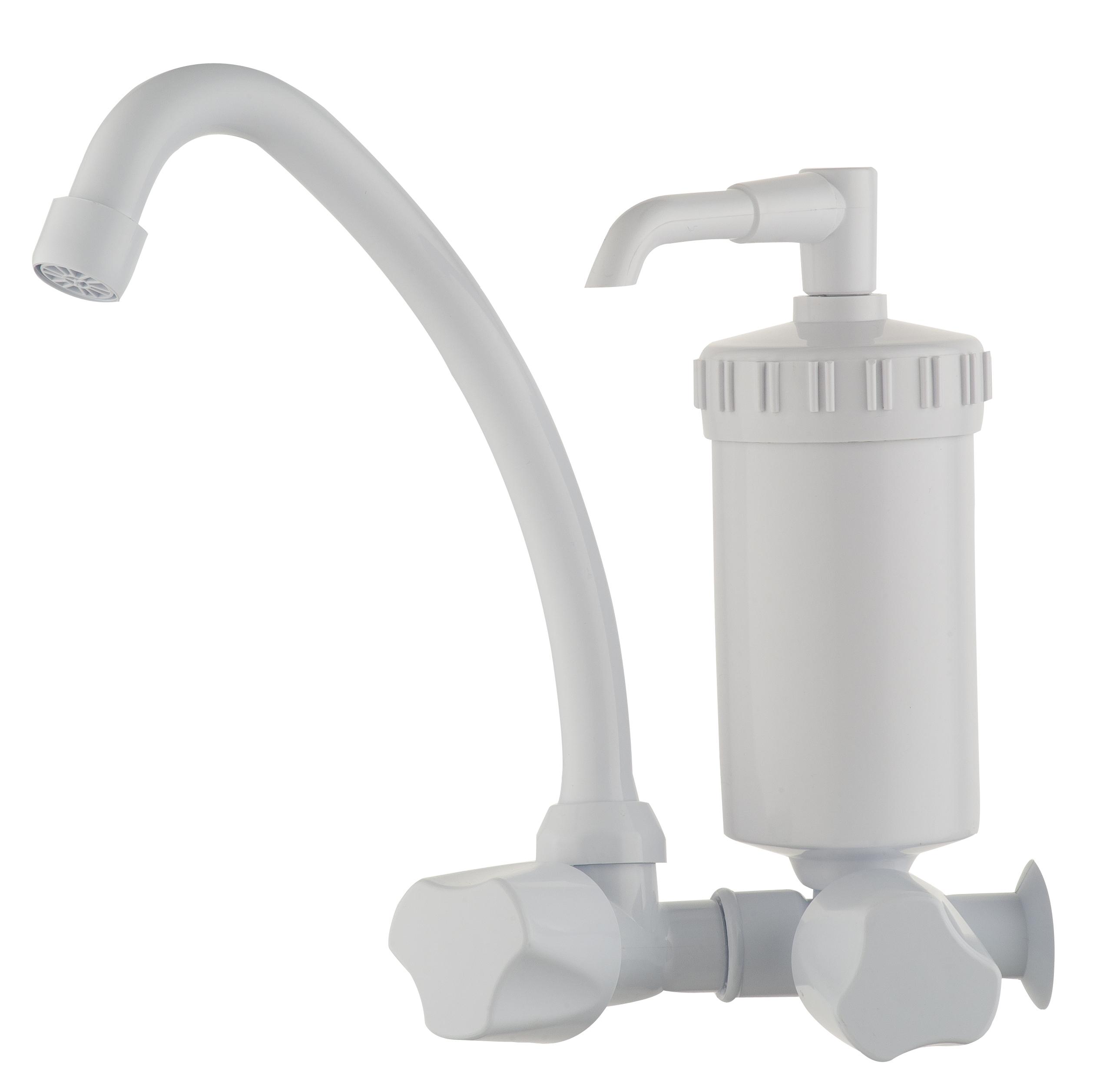Torneira PVC com filtro para cozinha - permite você consumir água filtrada sem sem preocupar com as impurezas