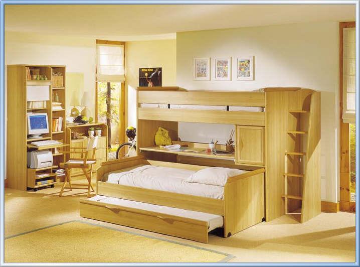quaro planejado para solteiro, com cama beliche e móveis planejados