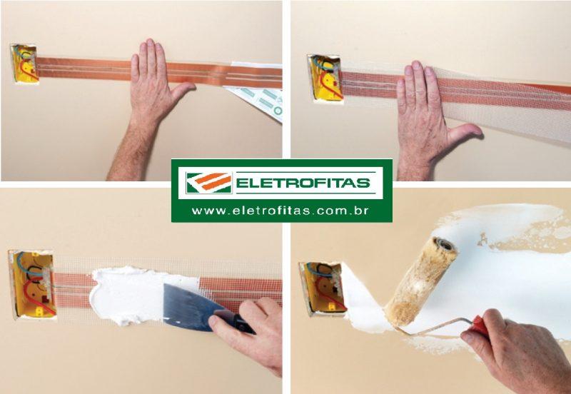 Eletrofita para aplicação na parede
