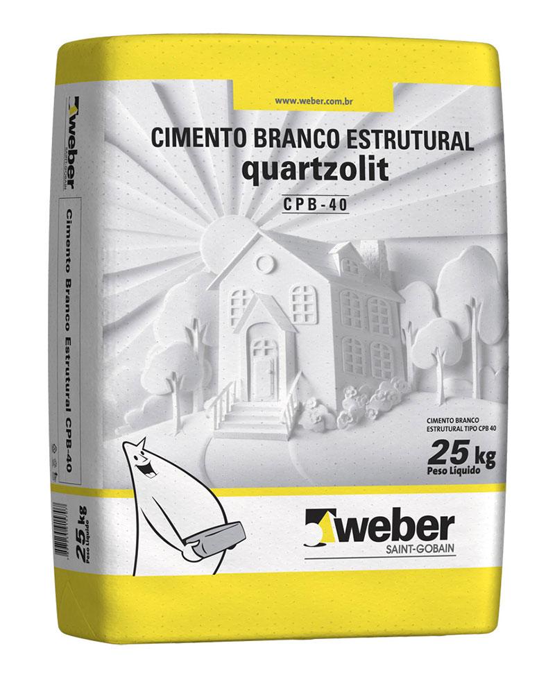 Saco de Cimento branco Estrutural Quartzolite 25Kg
