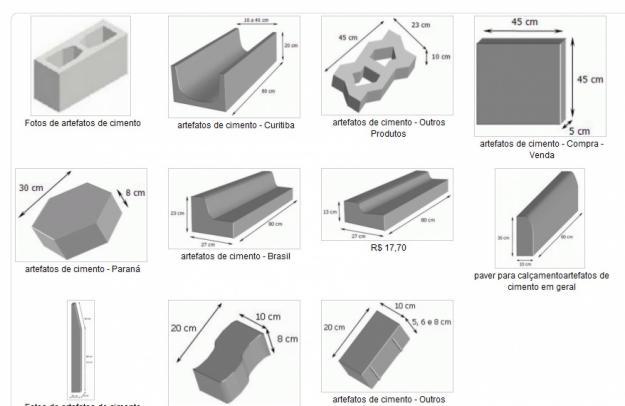 artefatos de cimento utilizados na construção civil, de lajes alveolares a blocos intertravados