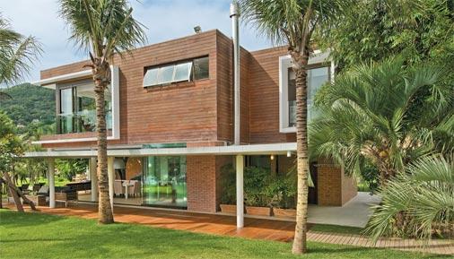 casa parede de madeira