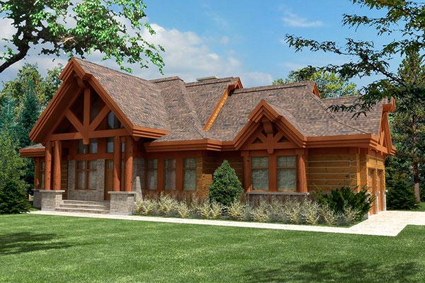 Casa com estilo mais moderno, mas acabamento de madeira
