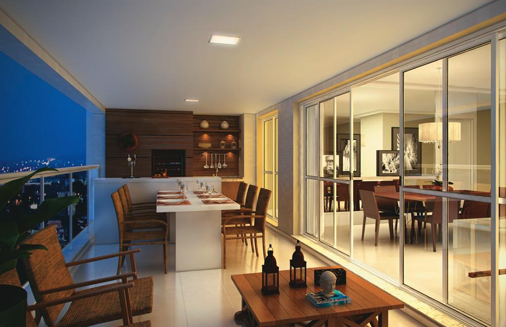 Outra dica são os espaços gourmet minimalistas, simples e discretos