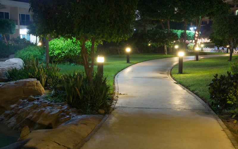 Luminária LED para jardim