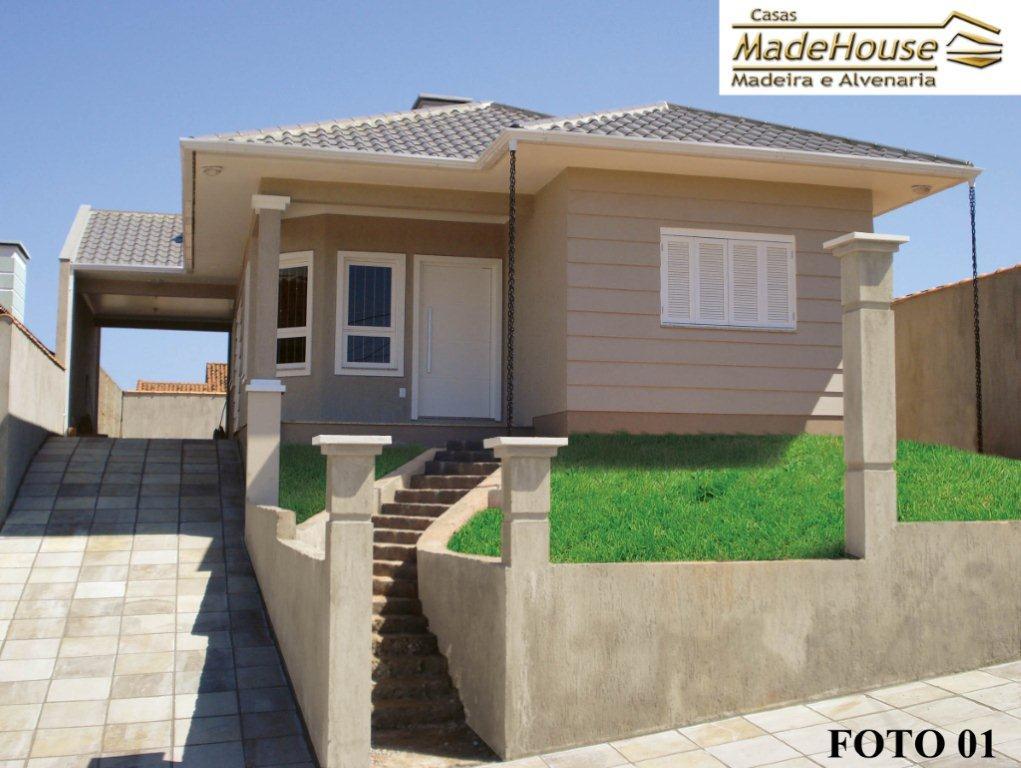 modelo de casa térrea em alvenaria com 2 quartos