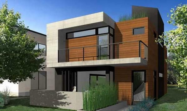 Casas modernas possuem normalmente formas geométricas bem definidas no projeto
