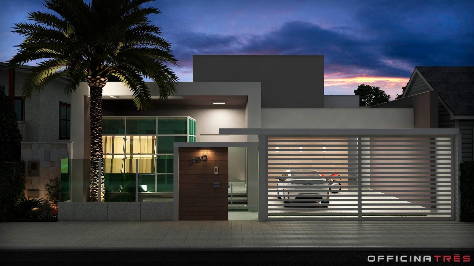 Modelos de casas modernas geralmente são associados a casas chiques