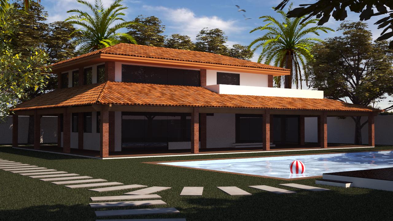 Casa de campo com inspiração nas antigas fazendas paulistas