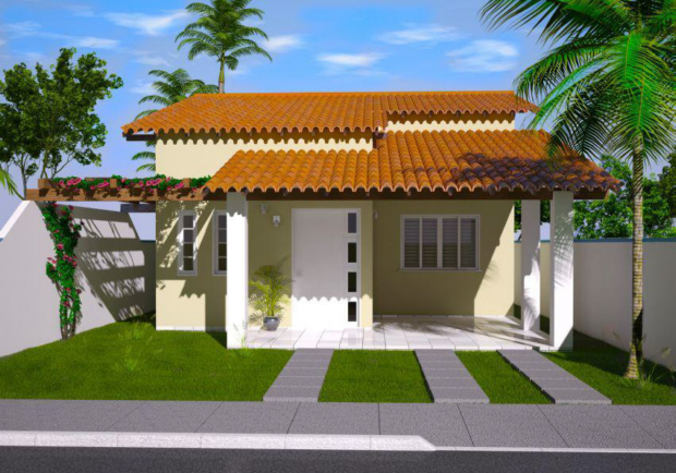 Modelo simples de casas de alvenaria