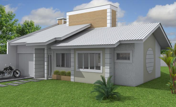 modelo simples de casa com 3 dormitórios