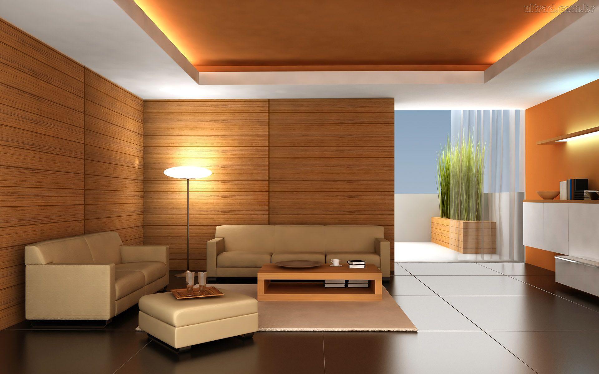 parede de madeira na sala 7