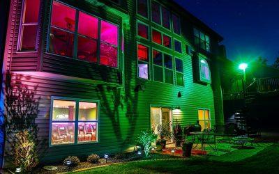 Luminária com refletor halógeno para o jardim
