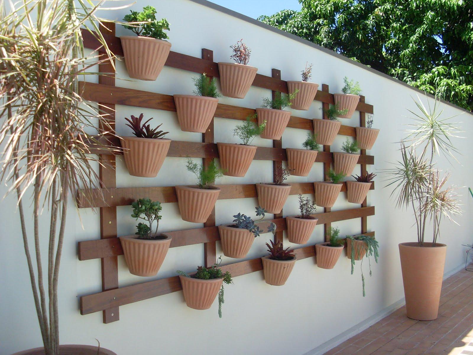 vasos para jardim vertical