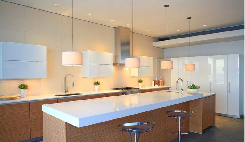 bancada de cozinha em silestone branco